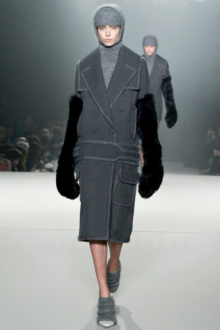 Alexander Wang reinventing the over sized coat and 1920's inspired dropped waist. Stunning.